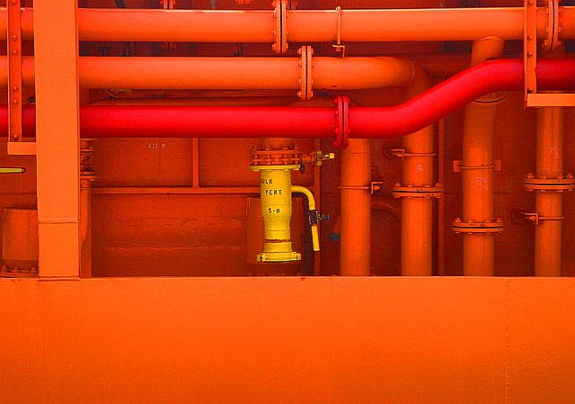 Brightly coloured pipes